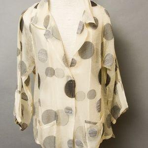 Babette Tops - Babette blouse L Acrylic Wool blend Lagenlook